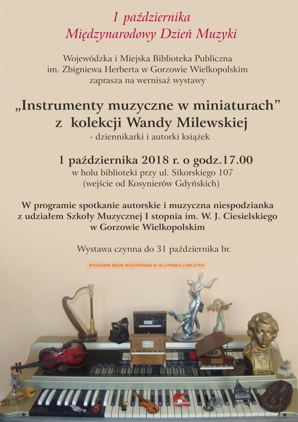 """Wystawa """"Instrumenty muzyczne w miniaturach"""" z kolekcji Wandy Milewskiej"""