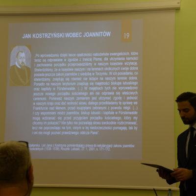 """Wykład dr. Kamila Wasilkiewicza pt. """"Zakon joannitów na Ziemi Lubuskiej do czasów reformacji""""; 19 listopada 2018 r."""