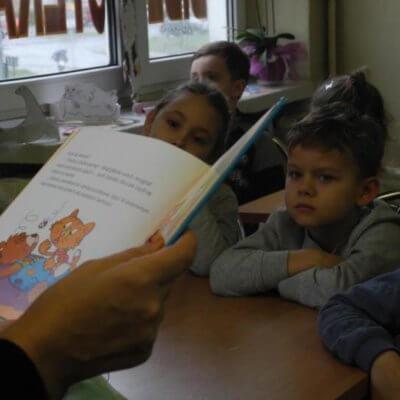 W dniu 9 stycznia 2019 r. bibliotekę przy ulicy Pomorskiej odwiedziły dzieci z Niepublicznego Przedszkola Zgromadzenia Sióstr Miłosierdzia Wincentyńskie Dzieci.