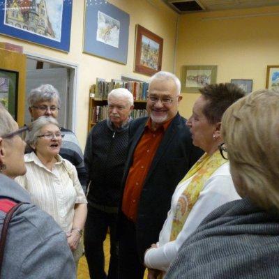 W piątkowe popołudnie 15 marca 2019 r. w Filii nr 14 nastąpiło uroczyste otwarcie wystawy Leszka Błażewicza zatytułowanej Akwarele gorzowskie i nie tylko.
