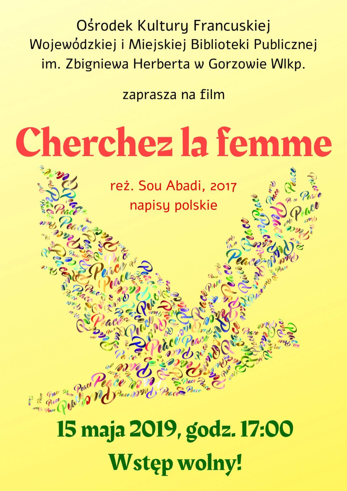 """15 maja 2019 r. o godzinie 17:00 Ośrodek Kultury Francuskiej zaprasza na projekcję komedii """"Cherchez la femme"""". Film wyświetlony zostanie z polskimi napisami."""