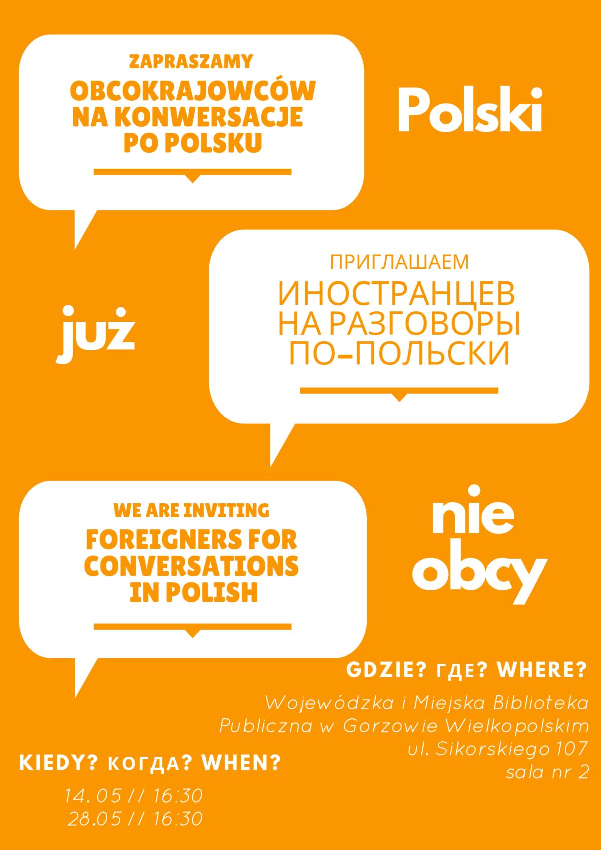 Zapraszamy obcokrajowców na konwersacje po polsku!