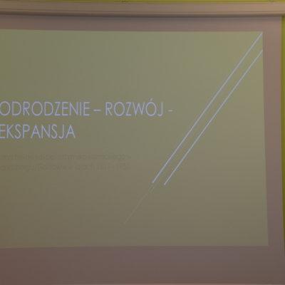 """Wykład Pawła Krawczyka pt. """"Zarys historii kościoła rzymsko-katolickiego w Landsbergu/ Gorzowie w latach 1817-1950""""; 28 maja 2019 r."""