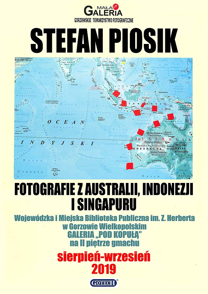 """W sierpniu i wrześniu w Bibliotece Herberta oglądać można wystawę fotografii Stefana Piosika z podróży autora po Australii, Indonezji i Singapurze. Zapraszamy do Galerii """"Pod Kopułą"""" na 2. piętrze gmachu WIMBP."""