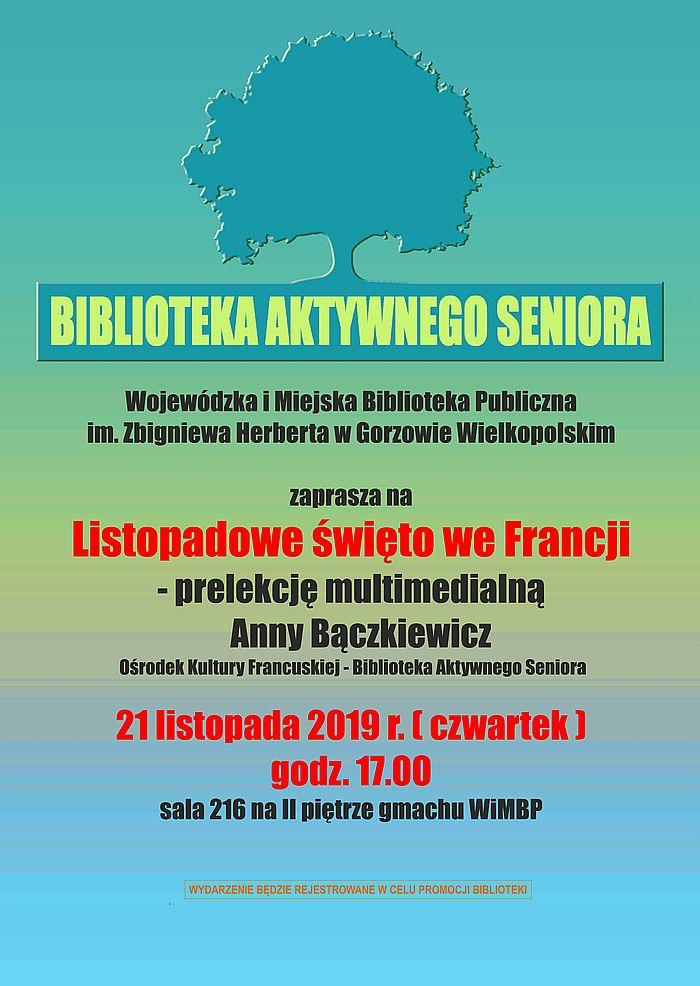 Zapraszamy 21 listopada 2019 r. o godzinie 17.00 odbędzie się spotkanie