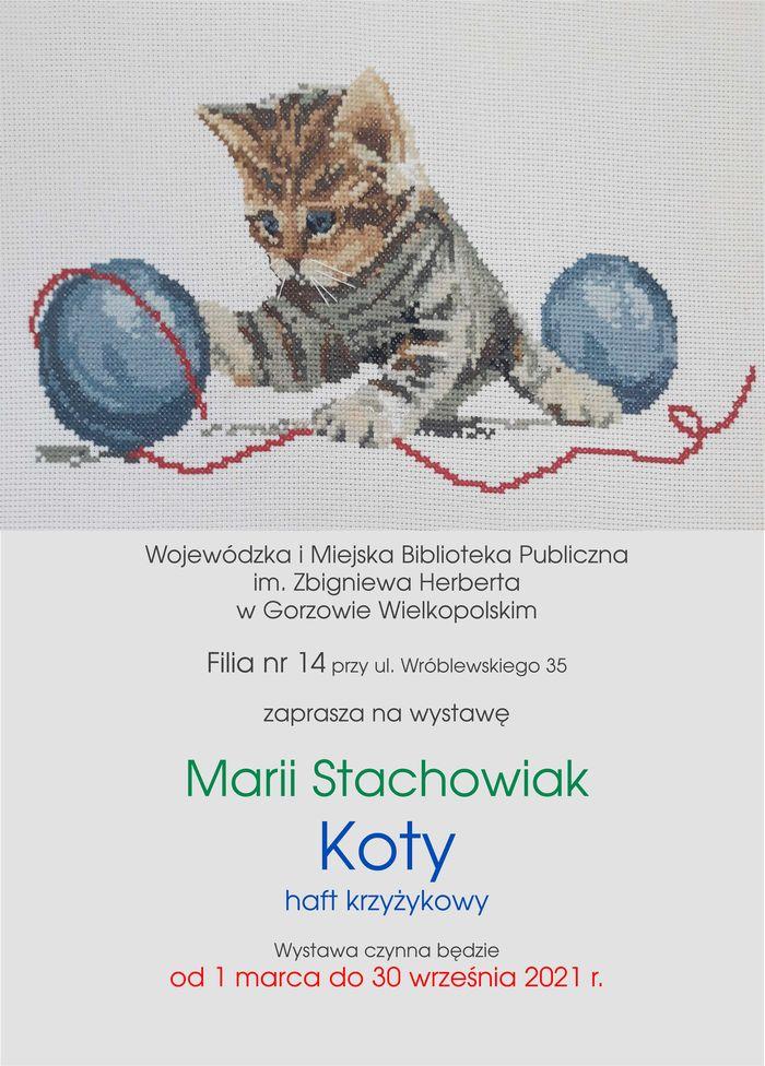 Od 1 marca do 30 września 2021 Filia nr 14 zaprasza do oglądania wystawy haftu krzyżykowego Marii Stachowiak.